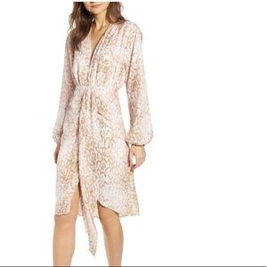 NWT WAYF Arista Drape Front Dress